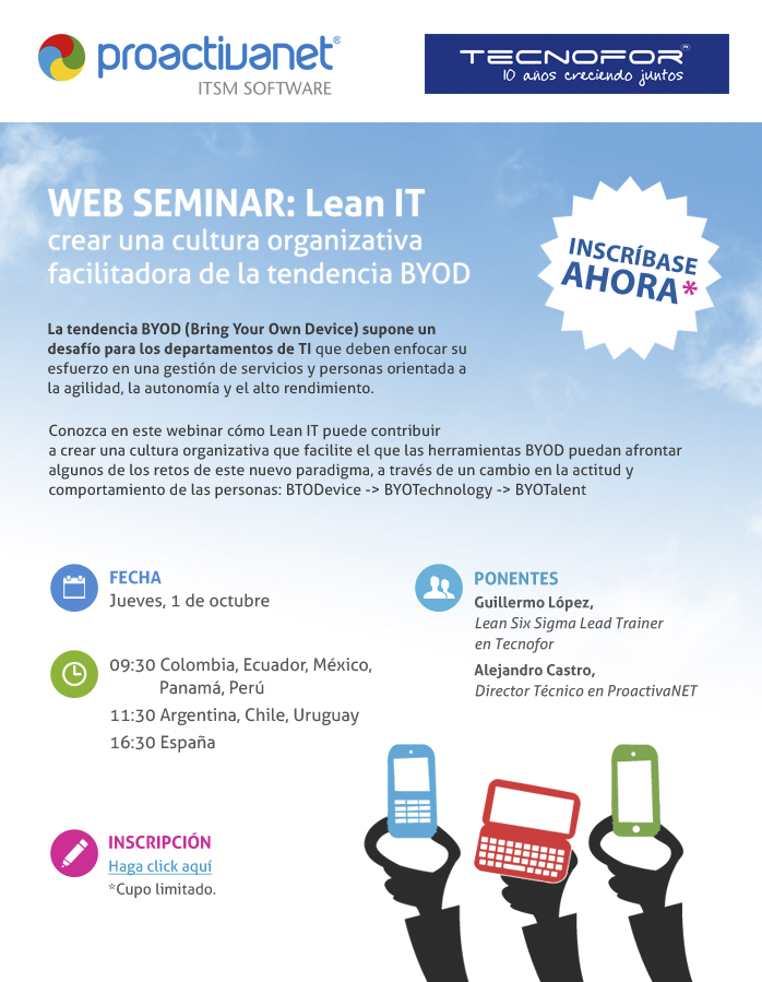 Webinar sobre Lean IT