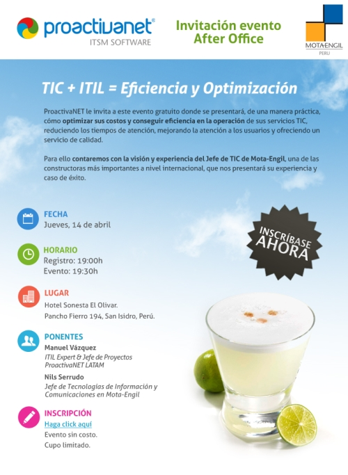 TIC + ITIL = Eficiencia y Optimización